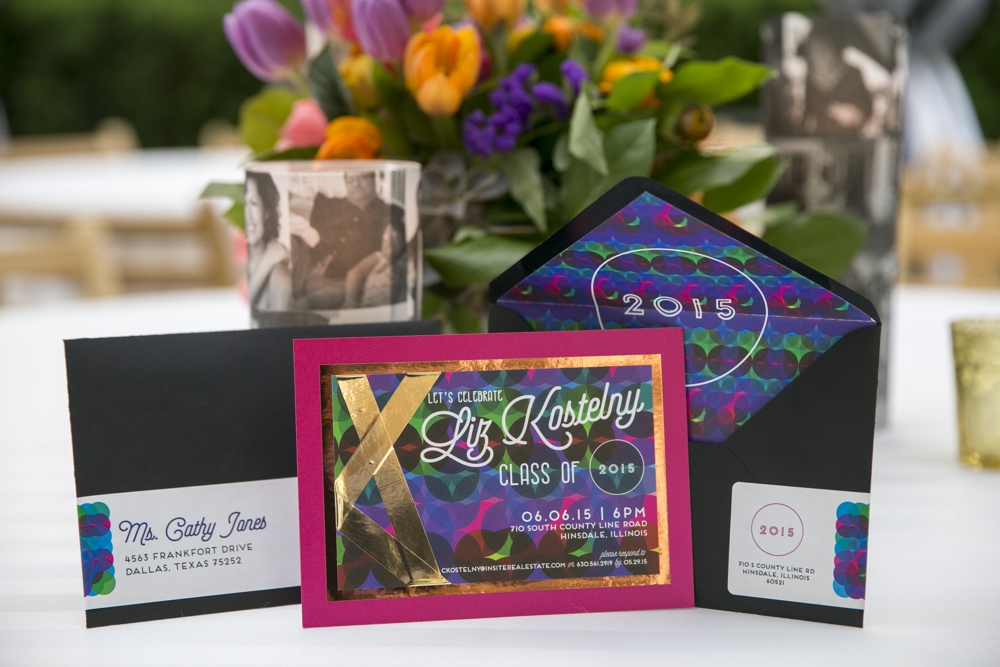 Graduation Invitations Miami Nights Inspired