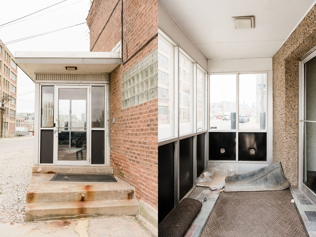 Chicago Event Planner and florist Design Studio before and after renovation